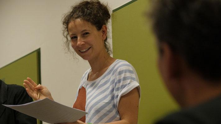 Manuela Kerer, Komponistin und Peter Pichler bei der Probe