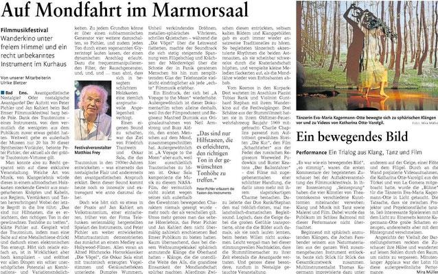 Peter Pichler in der Rhein-Lahn- Zeitung