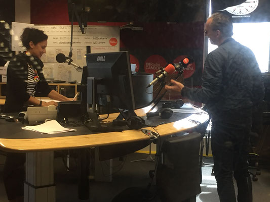 "Interview about the forthcoming screening of ""The Birds"" with live Trautonium score at ABC Radio Canberra"