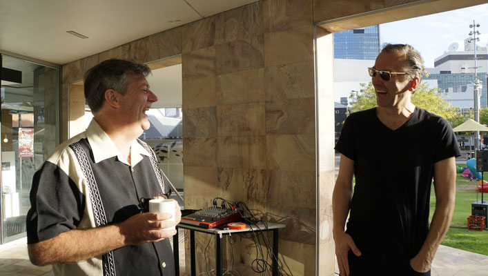 David Downie (Curator Northbridge Piazza Superscreen) and Peter Pichler