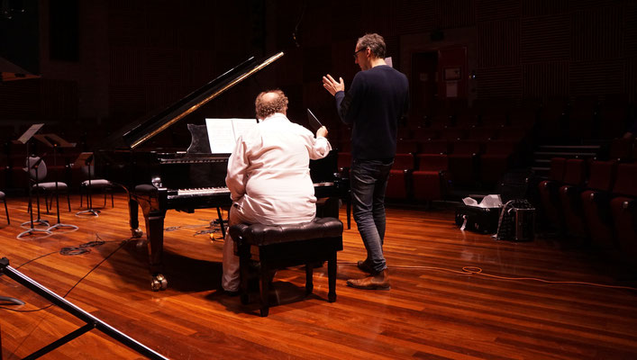 Peter Pichler and Stewart Smith (Piano) at rehearsal