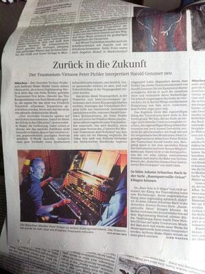 Rezension von Peter Pichlers Trautonium CD in der Süddeutschen Zeitung