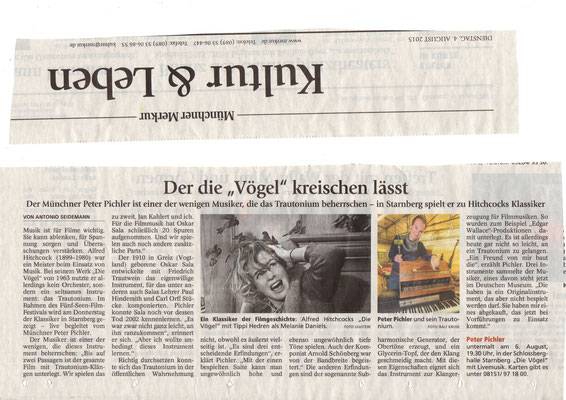 Peter Pichler im Münchner Merkur