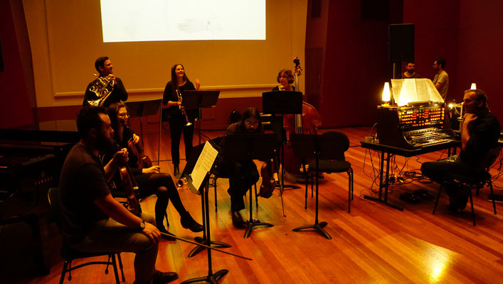 Peter Pichler Trautonium concert at Monash University with ensemble