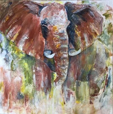 Elefant Bild in Acryl Krea Kurse Malschule Allschwil Rice Wunderli ZeichenschuleZeichenschule, Zeichenunterricht, Zeichenkurse, Allschwil, Basel-Land, Zeichnen lernen, Malen lernen