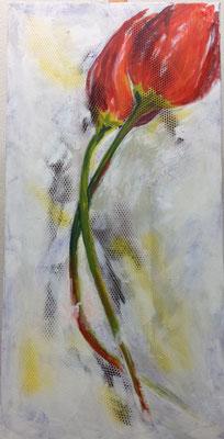 Tulpen Bild in Acryl Krea Kurse Malschule Allschwil Rice Wunderli ZeichenschuleZeichenschule, Zeichenunterricht, Zeichenkurse, Allschwil, Basel-Land, Zeichnen lernen, Malen lernen