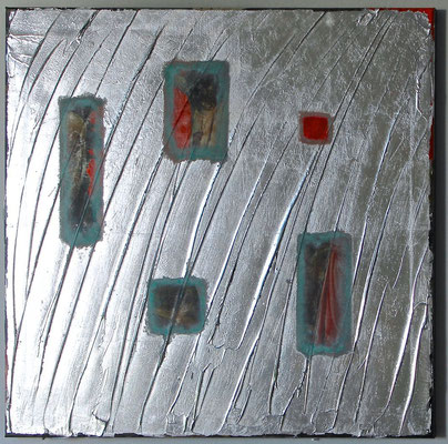 """Komposition #4"", 2014, Digitaldruck, Acryl, Aluminium, Oxidationsmittel