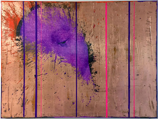 Everybody needs somebody to love, bearbeiteter Digitaldruck, Acryl, Kupfer, Oxidationstechnik auf Leinwand, 75x100cm