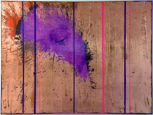 Everybody needs somebody to love, bearbeiteter Digitaldruck, Acryl, Kupfer, Oxidationstechnik auf Leinwand, 75x100cm