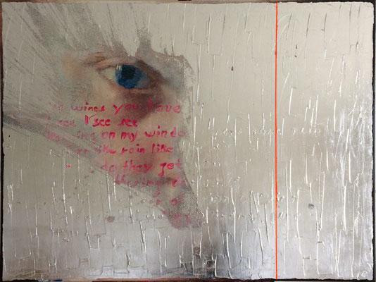 Wings You Have, 2016, Digitaldruck, Acryl, Aluminium, Oxidationsmittel auf Leinwand, 75x100 cm