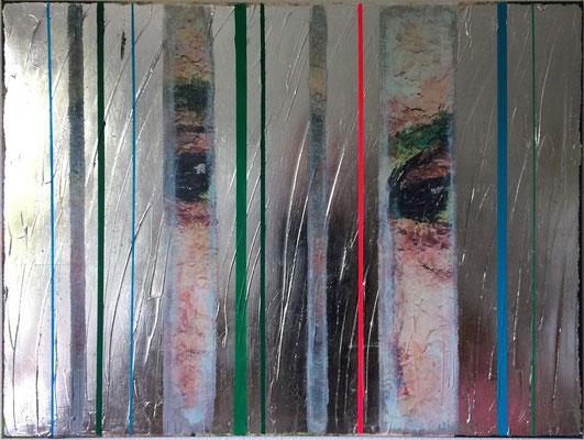 Enjoy The Silence, 2016, Digitaldruck, Acryl, Aluminium, Oxidationsmittel auf Leinwand, 75x100 cm