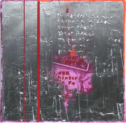 This is the Road we Travel, Darling, 2017, Digitaldruck, Acryl, Aluminium, Oxidationsmittel auf Leinwand, 50x50 cm.