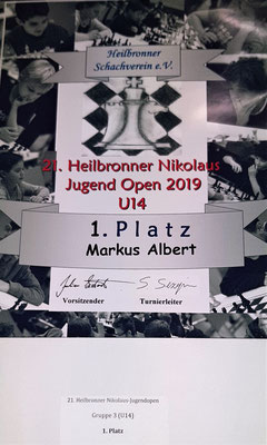 Sieger in der Altersgruppe U14 - Markus