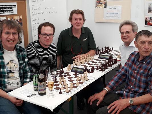 Schachfreunde aus Heilsbronn und Ansbach