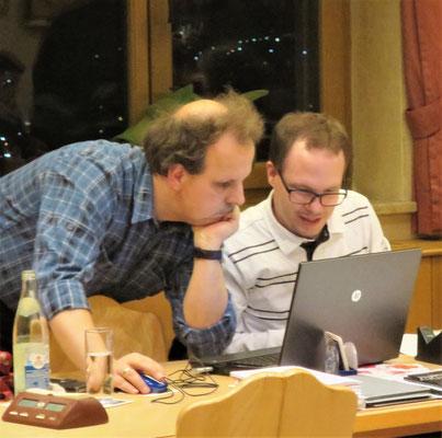 Die Turnierleitung: Günther Klee (links im Bild) und Jan Wiedemann