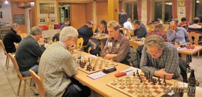 ...das Teilnehmerfeld war mit starken Spielern....