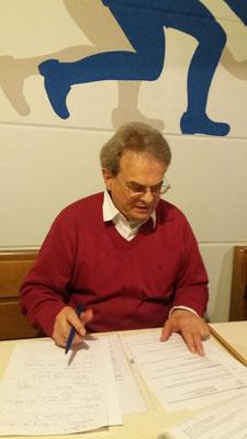 Der 1. Spielleiter Günter Groß-Winter