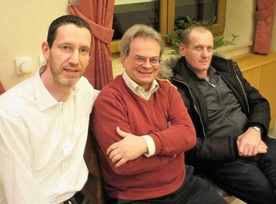 Spielpause: Die Schachfreunde Bernhard Faust, Günter Groß-Winter, Johann Beller (von links nach rechts)