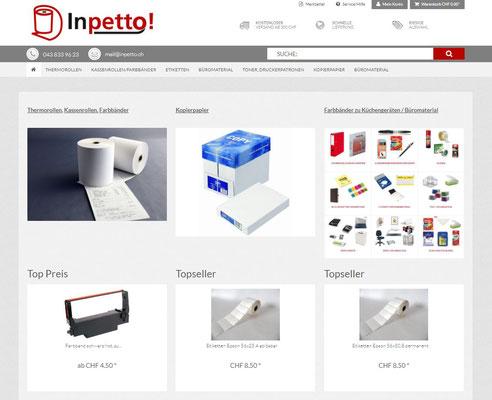 Inpetto GmbH ihr Partner für Thermorollen, Kassenrollen, Etiketten und Büromaterial
