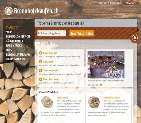 Plattform für Kunden und Anbieter von Brennholz