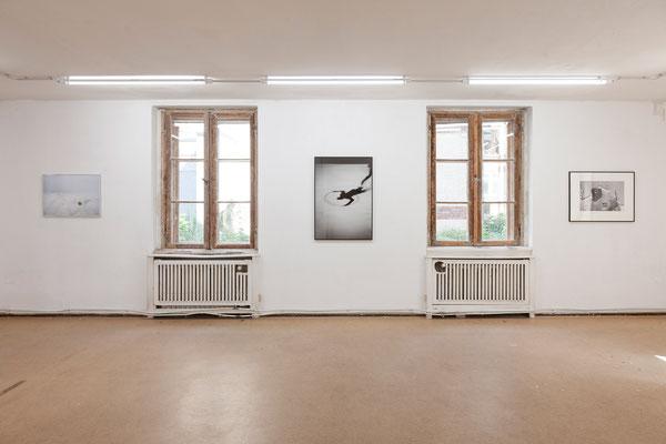 AUGE, Ausstellungsansicht, Raum II mit Arbeiten von Fißler, Trogisch und  Zippel