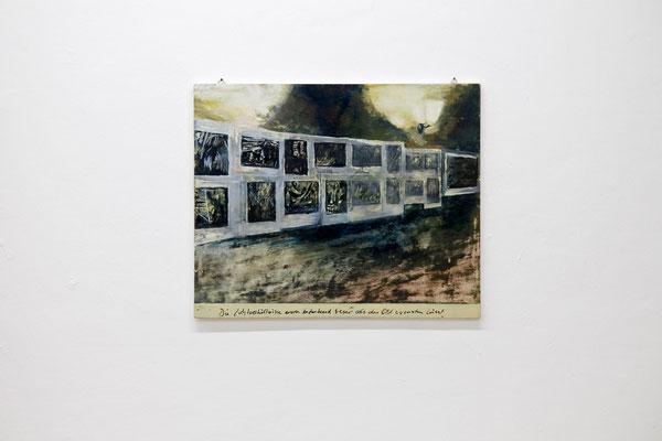 """Ina Bierstedt, """"Lichtverhältnisse"""", 2014, Eitempera und Öl auf Holz, 45 x 55 cm"""