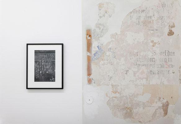 AUGE, Ausstellungsansicht, Raum I mit Arbeiten von Andreas Trogisch