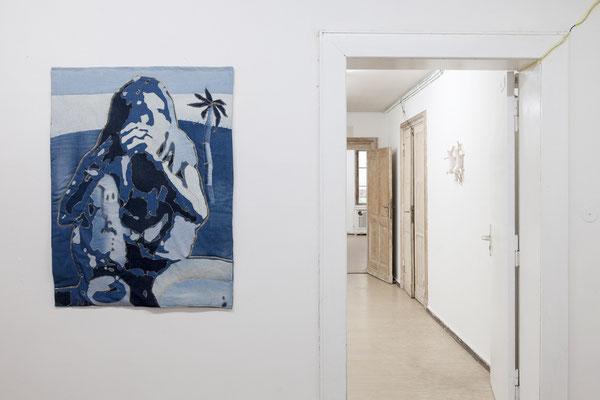 "Katrin Hoffert, ""Bangladesh Blues"", 2019   Jutta Eberhard, ""Shut up w(b)itch"" Objekt 28, 2018"