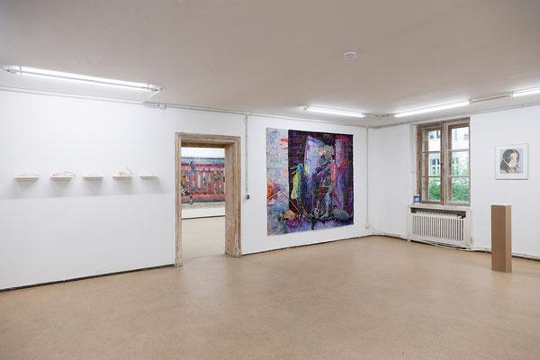 """Jutta Eberhard, """"Shut up w(b)itch"""" Objekte 15, 16, 17, 18, 19, 2018   Kata Unger, """"German Angst"""", 2018   Jutta Eberhard, """"Shut up w(b)itch"""" Objekt 42, 2018"""