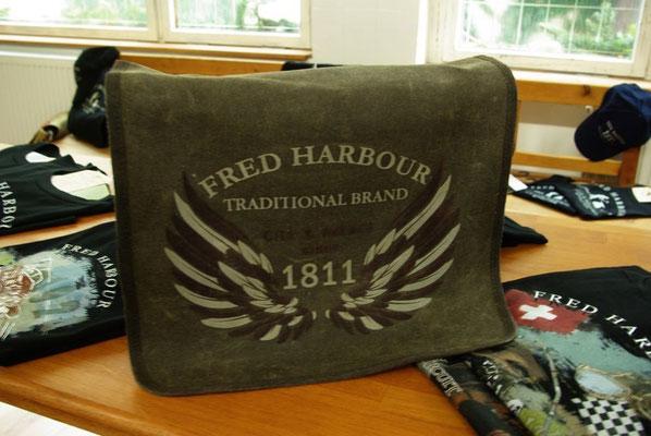 FRED HARBOUR-canvas waxing bag-Leinen gewachste Tasche08