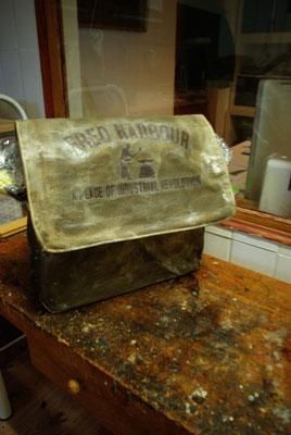 FRED HARBOUR-canvas waxing bag-Leinen gewachste Tasche06