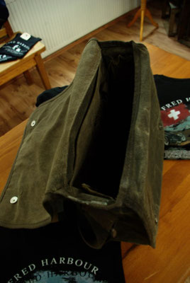 FRED HARBOUR-canvas waxing bag-Leinen gewachste Tasche11