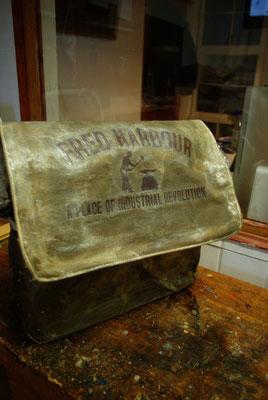 FRED HARBOUR-canvas waxing bag-Leinen gewachste Tasche07