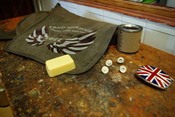 FRED HARBOUR-canvas waxing bag- Leinen gewachste Tasche01