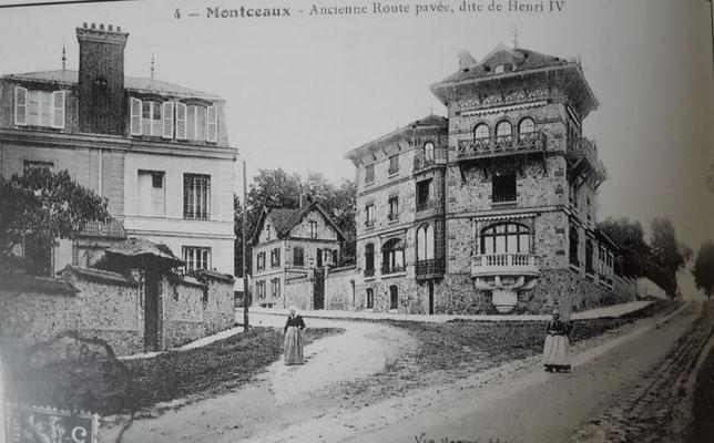 Chemin du vieux pavé et maison Pelissier autrefois