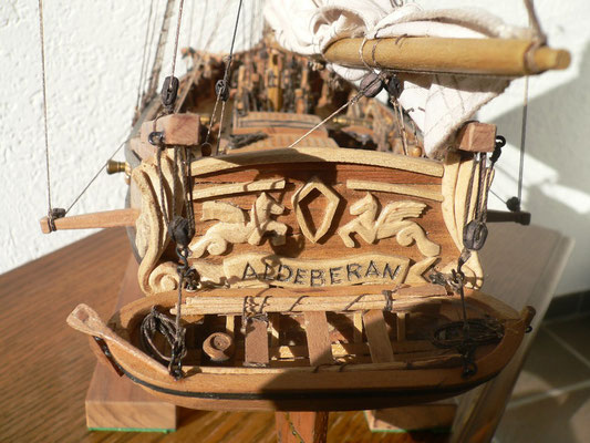 Schiffsmodell HMS Aldebaran