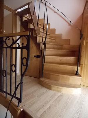 escalier entre niveau 2 et niveau 3