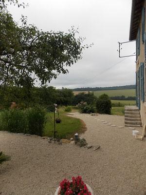 Terrasse de la location de vacances près de Commercy