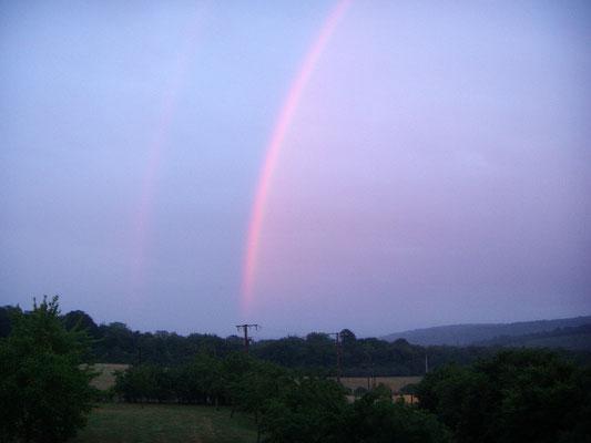 Arc en ciel au gite près de Commercy