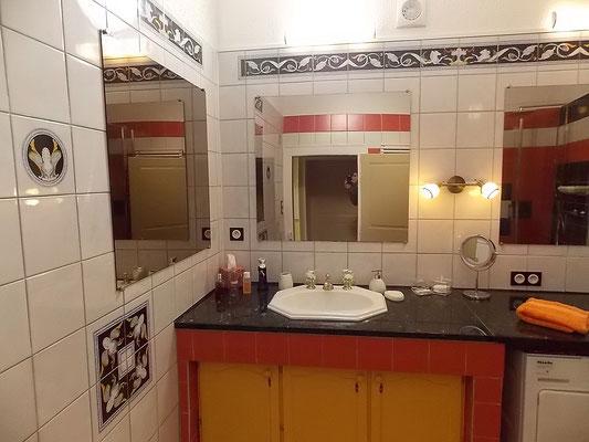 Salle d'eau originale du gîte de Morville en Meuse