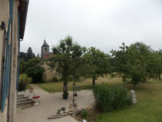Terrasse du gîte de charme près de Commercy en Meuse