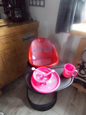 chaise haute version fille