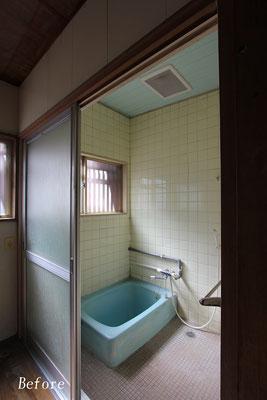 在来(タイル張り)浴室