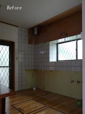 既設キッチン解体撤去後