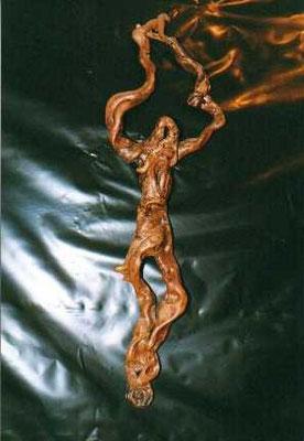 Radice a forma di Cristo crocifisso.