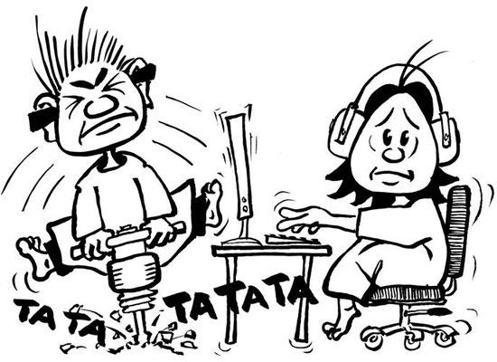 """Cartoon für Ausstellung """"Heilige Stühle"""""""