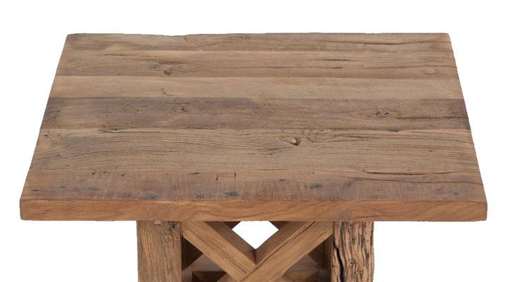 Detailbild Tischplatte Altholz Eiche