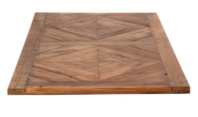 Detaulbild Tischplatte Altholz Eiche rustikal mit Rautenmuster