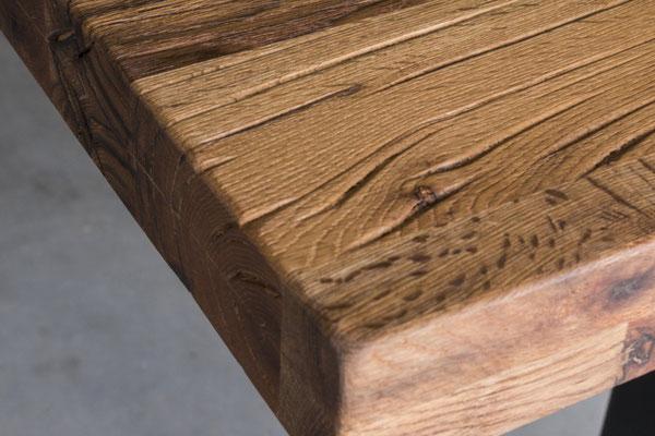 Rustikale Tischplatte Eiche nach Maß