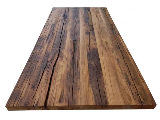 Tischplatte aus uraltem Eichenholz
